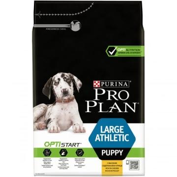 Сухой корм Pro Plan для щенков крупных пород атлетического телосложения, курица+рис