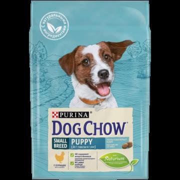 Сухой корм Dog Chow Puppy для щенков мелких пород, курица