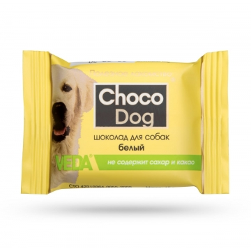"Лакомство Веда ""Choco Dog"" белый шоколад для собак (15г)"
