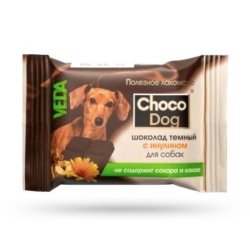 """Лакомство Веда """"Choco Dog"""" шоколад темный с инулином для собак (15г)"""