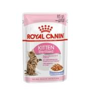 Влажный корм Royal Canin Kitten Sterilised для котят в желе (от 4 до 12 месяцев)...
