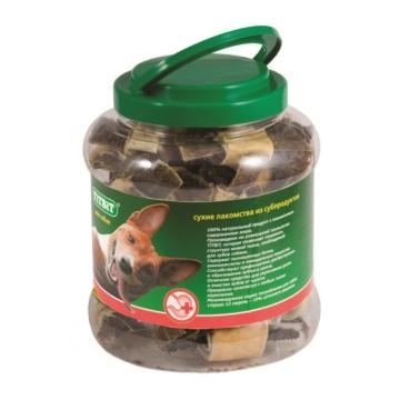 Лакомство TiTBiT для собак бантики с желудком говяжьим - банка пластиковая (4.3л)