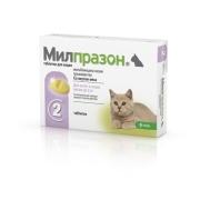 Антигельминтик KRKA Милпразон для котят и кошек весом до 2кг, 1таб./1-2кг, 2таб....