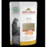 Влажный корм Almo Nature HFC Jelly Chicken Fillet and Cheese с Куриным филе и Сы...