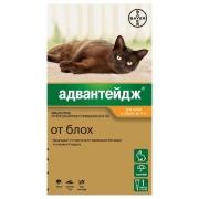 Капли Bayer Адвантейдж 40 (4пип) противопаразитарные для кошек до 4кг, поштучно...