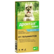 Антигельминтик Bayer Дронтал Плюс 6таблеток для собак со вкусом мяса, (1 таблетк...