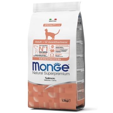 Сухой корм Monge Cat Adult Salmon корм для взрослых кошек c лососем