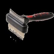 Грабли Hello Pet 48160S двухсторонние двухрядные плавающий зуб с фурминатором 60...