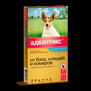Капли Bayer Адвантикс 100 противопаразитарные 4-10кг для собак (4пип), поштучно...