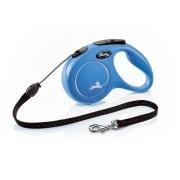 Рулетка Flexi New Classic 8 м трос синяя