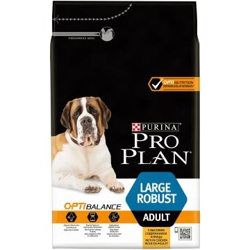 Сухой корм Pro Plan для взрослых собак крупных пород мощное тело, курица+рис