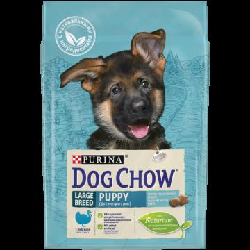 Сухой корм Dog Chow puppy large breed для щенков крупных пород, индейка