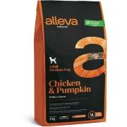 Сухой корм ALLEVA NATURAL ADULT CHICKEN AND PUMPKIN MEDIUM для собак средних пор...