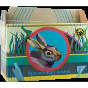 Переноска Вака картон для кроликов и морских свинок...