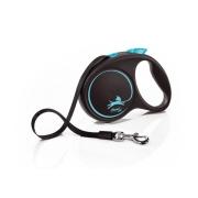 Рулетка Flexi Black Design 5 м лента черный/синий