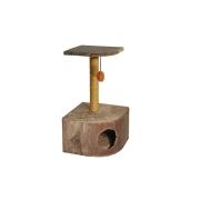 Домик RP8122 угловой с полкой (43*43*76) для кошки