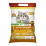 Минеральный комкующийся японский кукурузный наполнитель Homecat Эколайн 6 лит....
