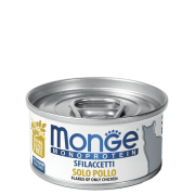 Консервы Monge Cat Monoprotein хлопья для кошек из курицы 80г...