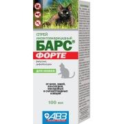 """Спрей АВЗ """"Барс Форте"""" инсектоакарицидный для кошек (100мл)..."""