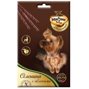Лакомство Мнямс Деликатес лакомые палочки 13,5 см для собак с олениной и яблоком...