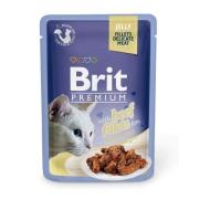 Влажный корм Brit Premium 0.085 Кусочки из филе говядины в желе пауч для кошек ...