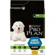 Сухой корм Pro Plan для щенков крупных пород мощного телосложения, курица+рис...