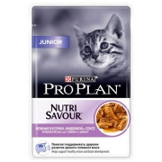 Влажный корм Pro Plan Nutri Savour Junior индейка для котят 85гр...