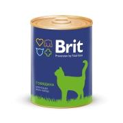 Консервы Brit Premium говядина консервы для кошек 340г...