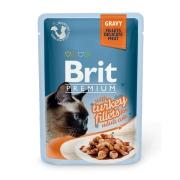 Влажный корм Brit Premium 0.085 Кусочки из филе индейки в соусе пауч для кошек ...