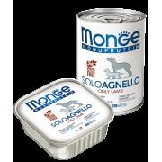 Monge Dog Monoproteico Solo консервы для собак паштет из ягненка ...