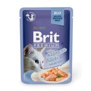 Влажный корм Brit Premium 0.085 Кусочки из филе лосося в желе пауч для кошек ...
