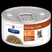 Hill's Prescription Diet k/d Рагу, консервы для кошек при лечении заболеваний по...