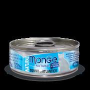 Консервы Monge Cat Natural для кошек атлантический тунец 80г...