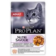 Влажный корм Pro Plan Nutri Savour Adult индейка для взрослых кошек, 85г...