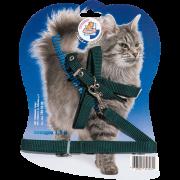 Комплект (Зооник) поводок 1,5м + шлейка для кошек, стропа (на блистере)...