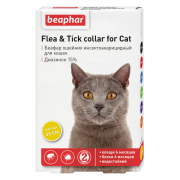 Ошейник Beaphar от блох и клещей (5мес), 35см для кошек желтый...