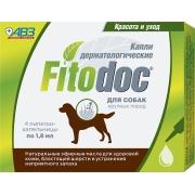 Капли Фитодок дерматологические для крупных пород собак от 40 до 60 кг, 4 пипетк...