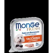 Консервы Monge Dog Fresh для собак индейка 100г