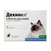 KRKA: Дехинел со вкусом мяса 2табл. антигельминтик для кошек 1таб/4кг ...