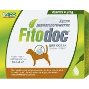 Капли Фитодок дерматологические для средних пород собак от 20 до 40 кг, 4 пипетк...