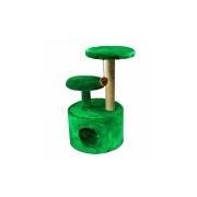 Домик RP8100дз 3-х уровневый круглый джут зеленый (d42*100) для кошки...