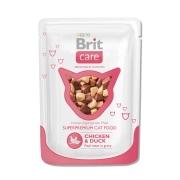 Влажный корм Brit Care для кошек курица и утка пауч (80 гр)...
