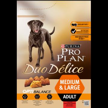 Сухой корм Pro Plan Duo Delice для собак взрослых всех пород, говядина+рис