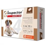 Таблетки Inspector Quadro Tabs от блох, клещей и глистов для собак более 16 кг...