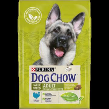 Сухой корм Dog Chow Ladge Breed для собак крупных пород с индейкой