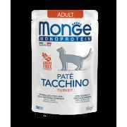 Влажный корм Monge Cat Monoprotein Pouch паучи для кошек индейка 85г...
