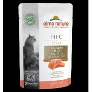 Влажный корм Almo Nature HFC Jelly with Salmon Лосось в Желе для кошек, 55гр...
