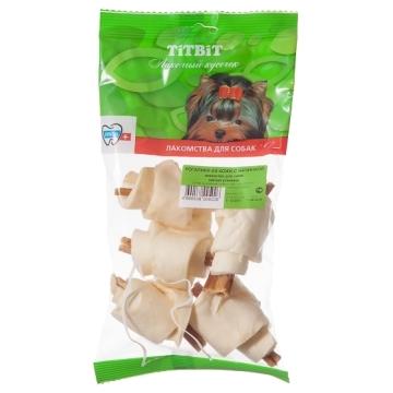 Лакомство TiTBiT рогалики из кожи с начинкой (мягкая упаковка)
