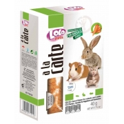 Лакомство LOLO A la carte морковные хлопья для грызунов и кроликов 40г...