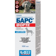 """Спрей АВЗ """"Барс Форте"""" инсектоакарицидный для собак (100мл)..."""